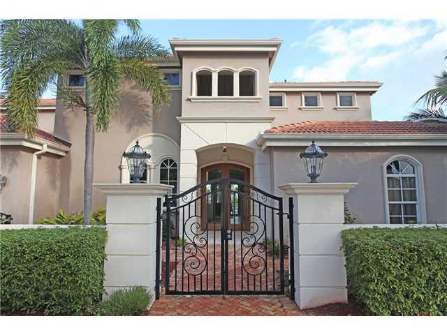 Beautiful iron gates providing privacy and opulent Mediterranean appeal.