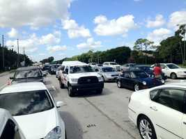 Traffic was a mess at about 1 p.m. on Yamato Road near Lynn. (Photo: Randy Gyllenhaal/WPBF)