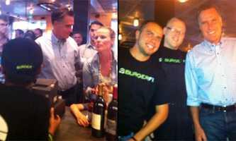 Mitt Romney visits BurgerFi (Photos courtesy Zlata)