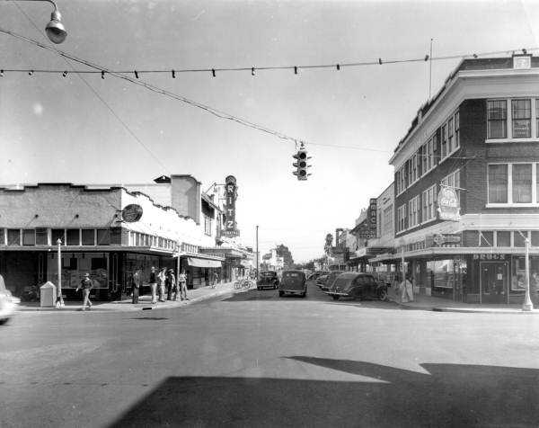 """Winter Haven (Polk County): The area was considered a haven from the severe winters of the north. Winter Haven also is nicknamed """"The City of a Hundred Lakes.""""  The early 1900s downtown area of Winter Haven is shown in this photo."""