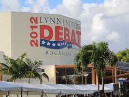 Site of the final presidential debate Monday night. (Photo: John P. Wise/WPBF)