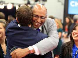 Which 1990s party boy/actor/surfer dude did former RNC chair Michael Steele give a bro hug to? (Photo: John P. Wise/WPBF)