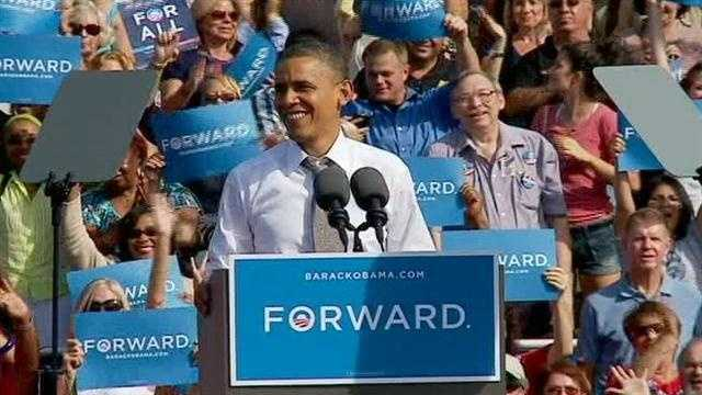 Obama at Delray Beach Tennis Center