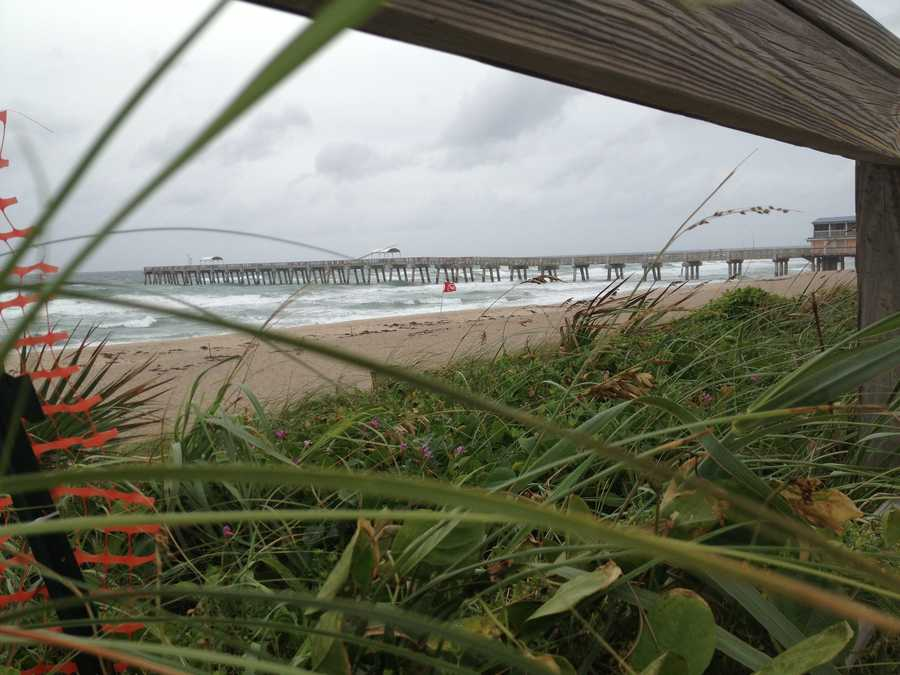 Even treacherous weather can make for a neat photo op. (Photo: Chris McGrath/WPBF)