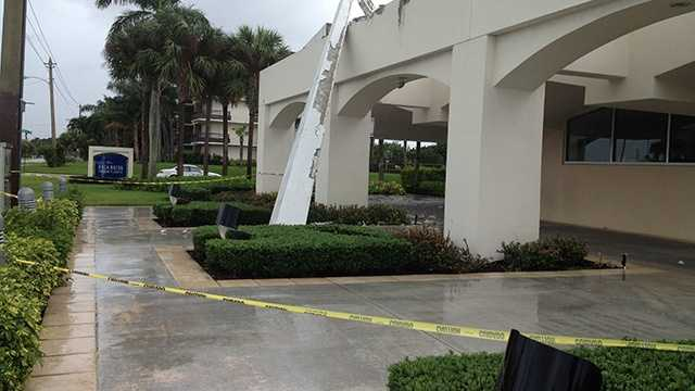This church was damaged in Boca Raton, thanks to Hurricane Sandy's strong wind gusts. (Photo: Angela Rozier/WPBF)