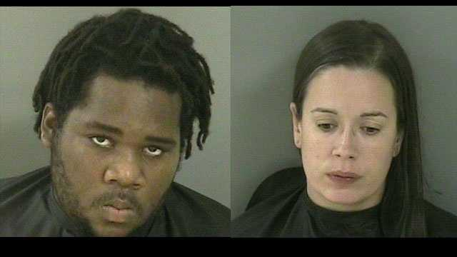 Letwain Walker and Amanda Haun were arrested on drug charges in Vero Beach.