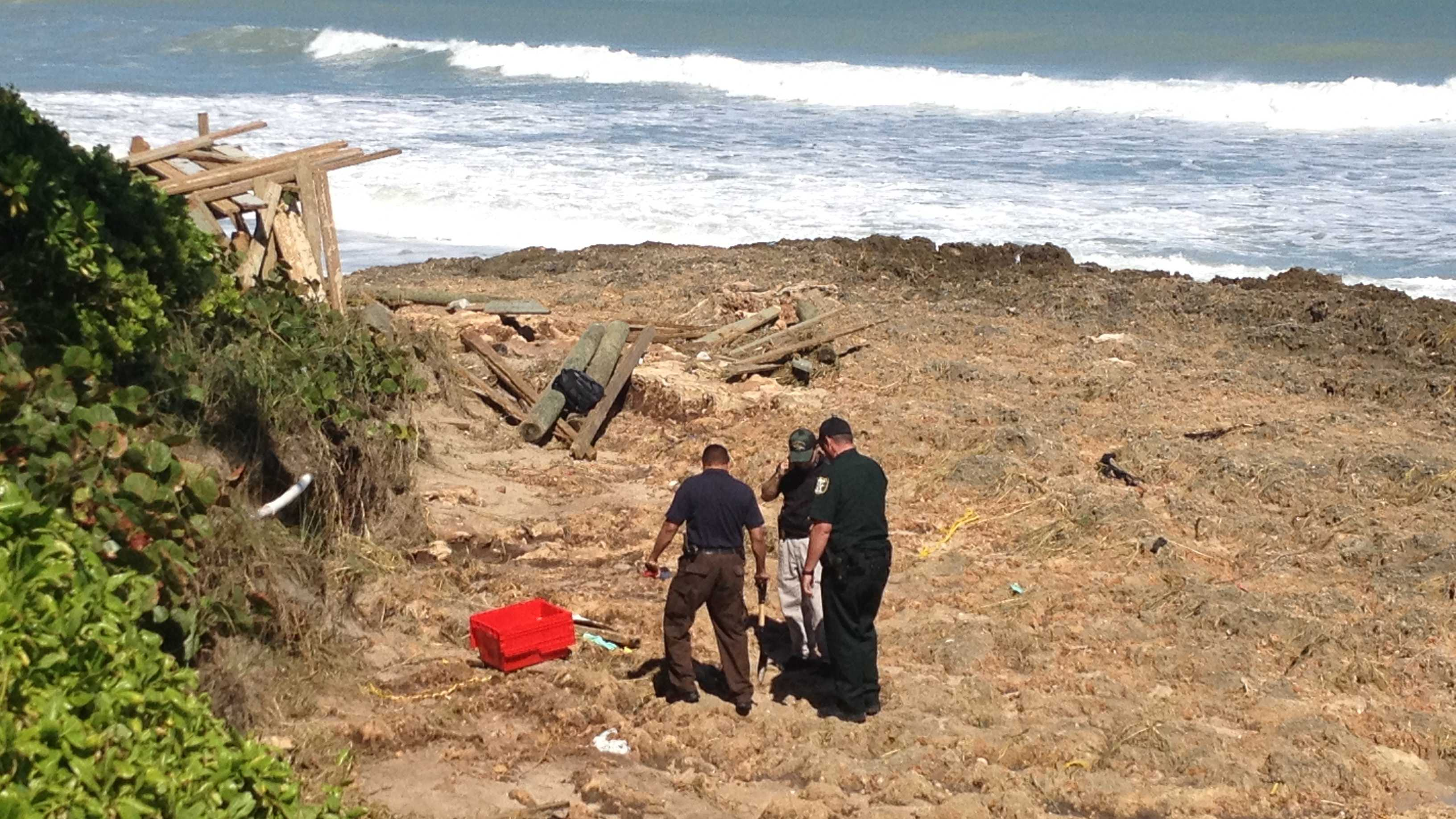 Deputies are investigating after a human skull and other bones were found on this rocky beach in Stuart.