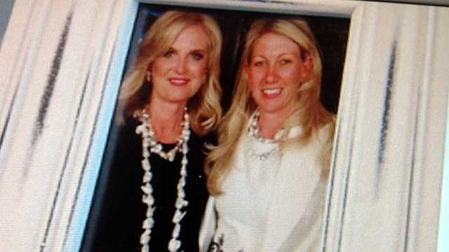 In this still picture, Ann Romney shows off a pearl necklace that Jackie Robinson made for her.