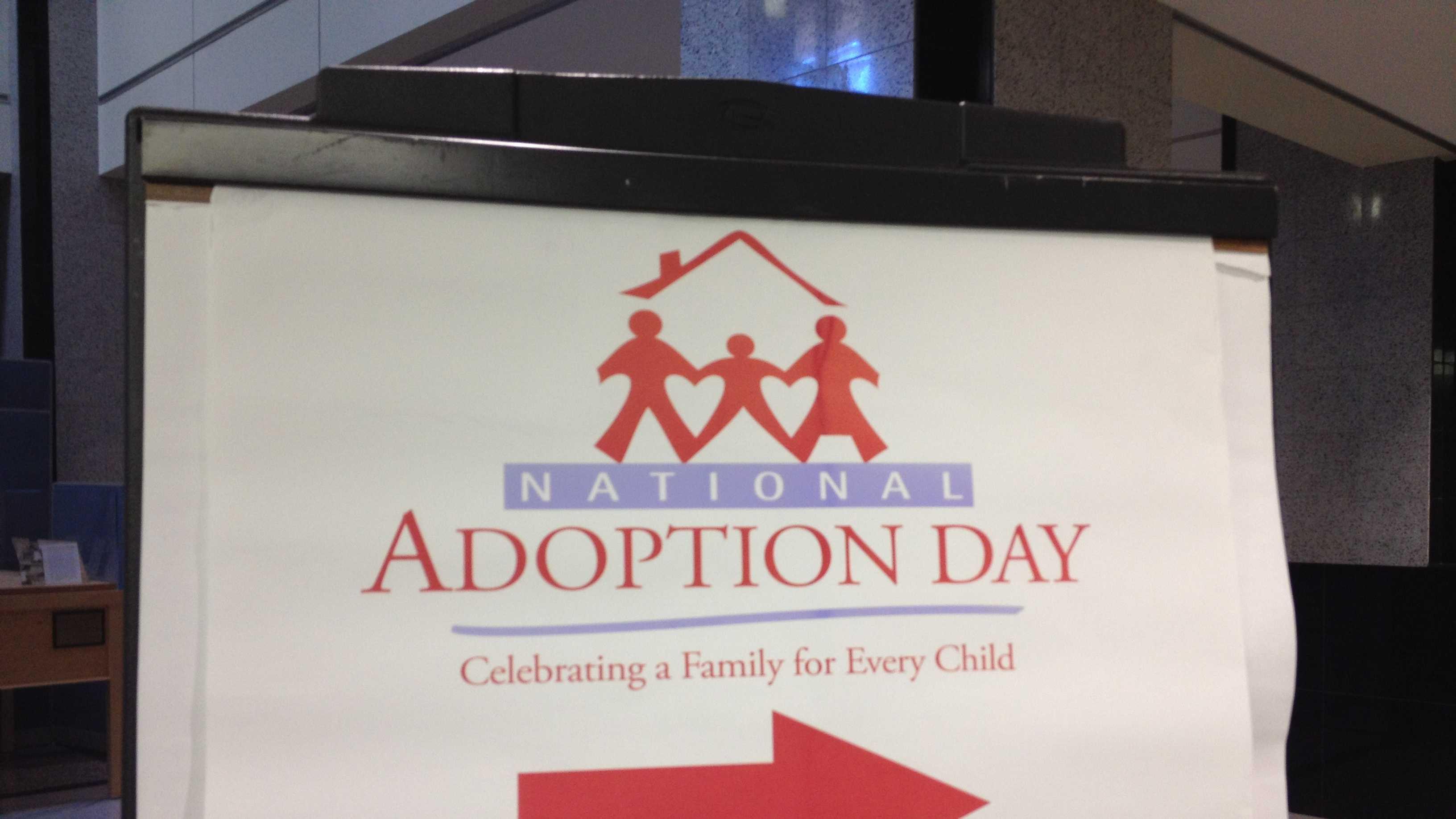 National Adoption Day sign