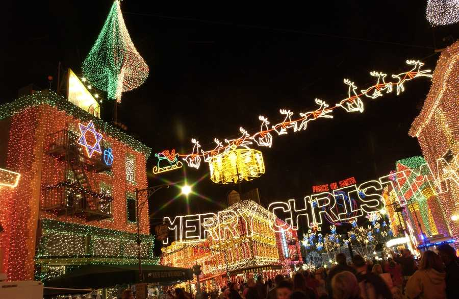 6. The Osborne Family Spectacle of Dancing Lights at Disney's Hollywood Studios. The seasonal display showcases millions of dancing lights, plus animated displays and 3-D effects synchronized to holiday music during a snowfall. The event begins Nov. 7 and runs through Jan. 5, 2014.