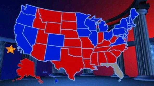 Florida no vote decided US map