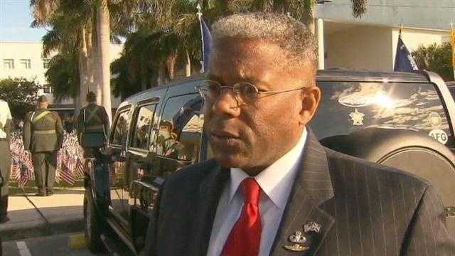 Allen West spoke publicly on Nov. 8 for the first time about his still-undecided contest against Patrick Murphy.
