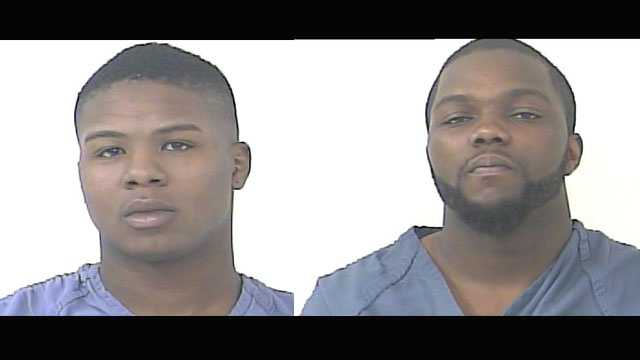 Dante Bradshaw and Demetrius Green face grand theft charges.