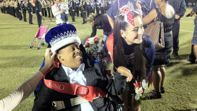 A local high school student was crowned homecoming king, but that might not have been the biggest thing he did Friday night.
