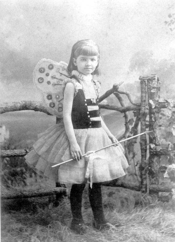 Sarah Everett Lewis, 7, in costume poses for a photo near Tallahassee in 1884.