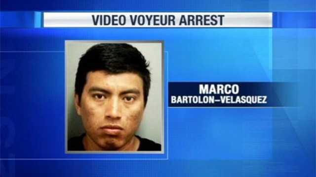 Marco Bartolon-Velasquez is accused of hiding a camera in a JCPenney women's restroom.