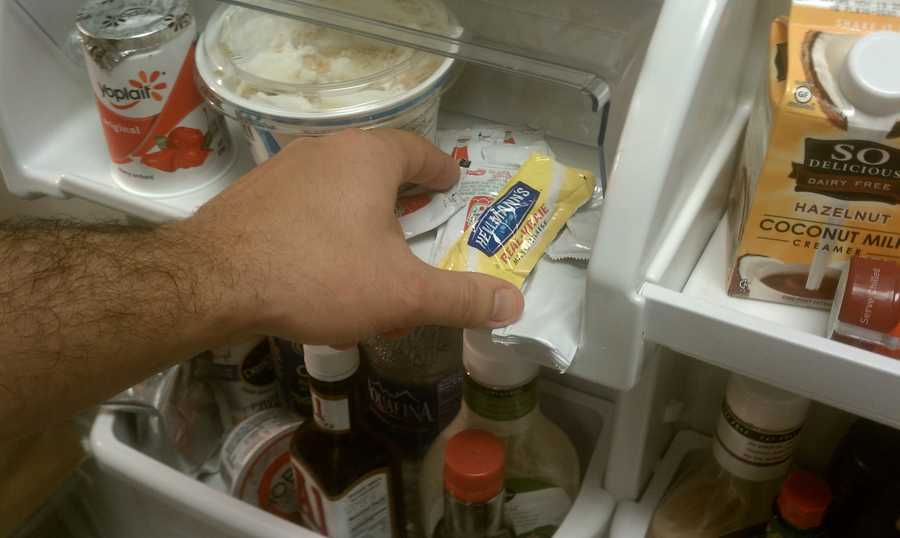 The habit of bringing home extra condiment packets and storing them in the fridge, never to be used again, needs to end. Scoop up all those old packets from your past trips to McDonald's, Chick-fil-A or any other fast-food restaurant and get rid of them.
