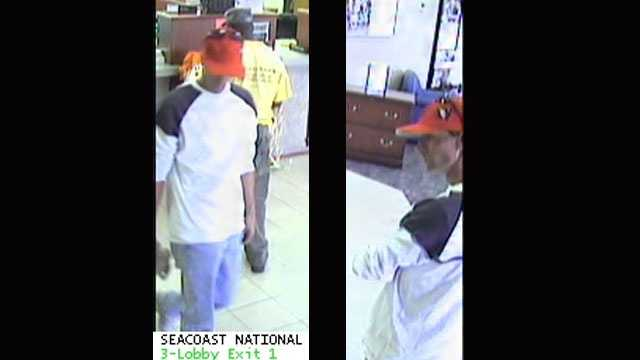 Detectives are trying to identify this man who robbed the Seacoast National Bank in Vero Beach.