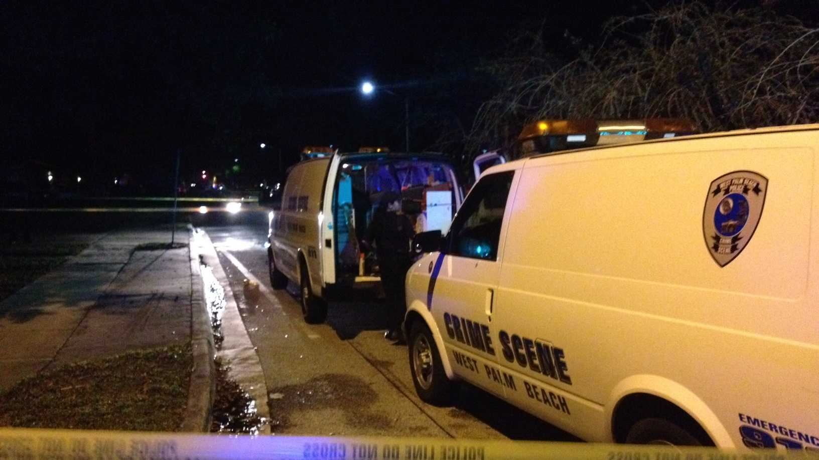 Police say a man was shot and killed Saturday night in West Palm Beach.