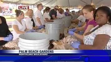 Volunteers with the Big Heart Brigade were working around the clock on Nov. 19, getting ready to serve the homeless in Palm Beach County with 27 tons of turkey and 1,500 gallons of gravy for Thanksgiving.