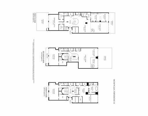 Layout of the condo's 3 stories.