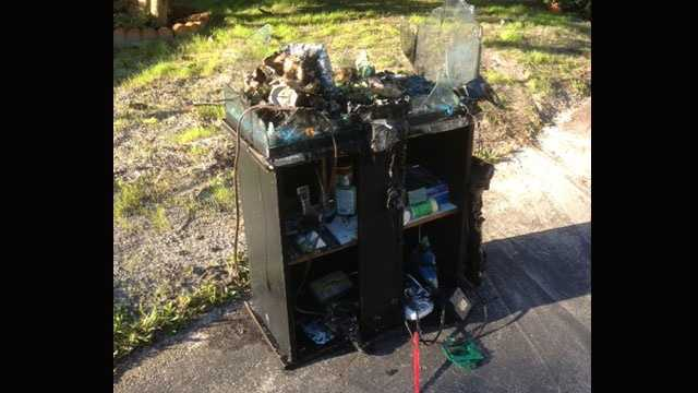 Firefighters said they believe an aquarium's electrical equipment sparked a house fire in Boca Raton on Nov. 19.