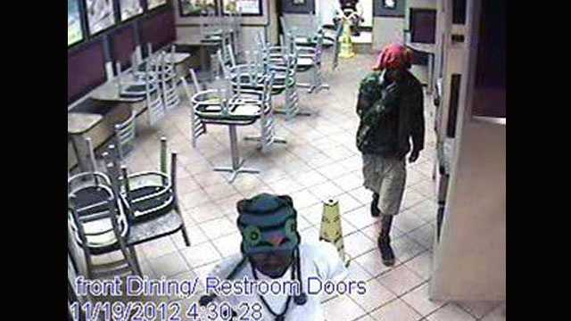 Detectives are trying to identify these two men who robbed a McDonald's fast-food restaurant on Hypoluxo Road in Lake Worth.