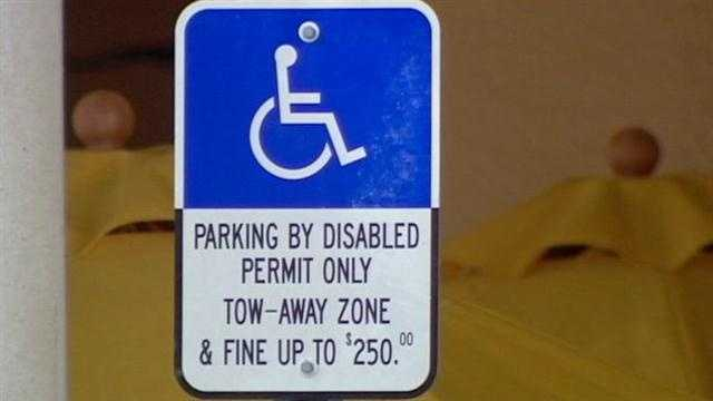 Handicapped parking violators face a second-degree misdemeanor punishable by a $250 fine and up to 6 months in jail.