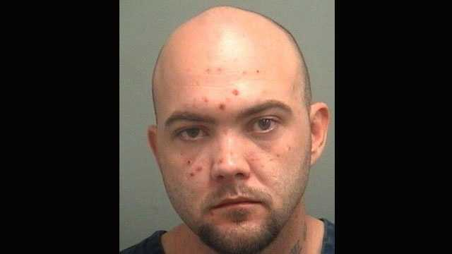 Bruce Knapp is accused of robbing a couple at Paul's Motel in Greenacres.