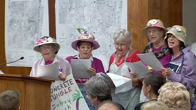 A construction project will go on in Delray Beach despite the best efforts of an opposition group called the Raging Grannies.