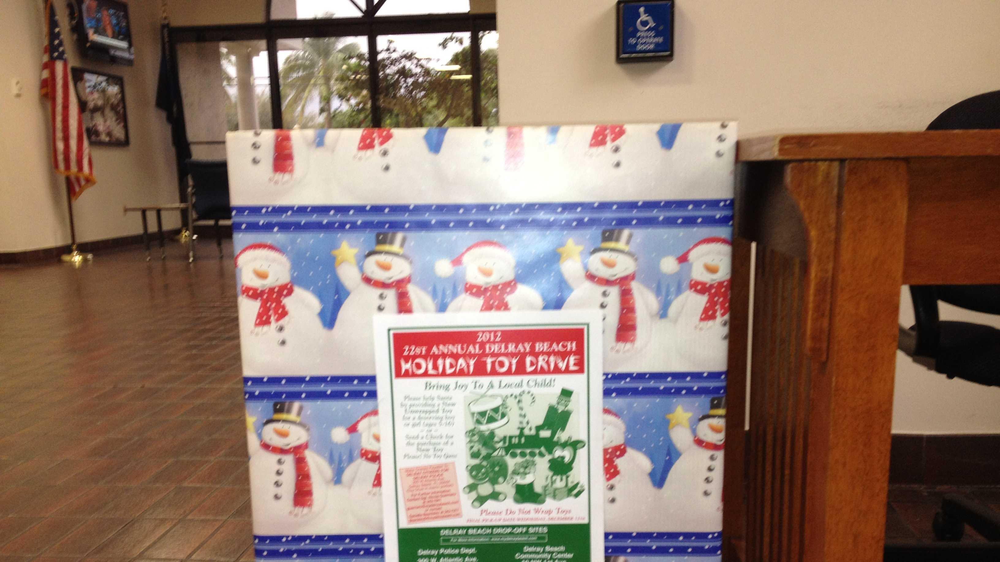 Delray Beach toy donation bin