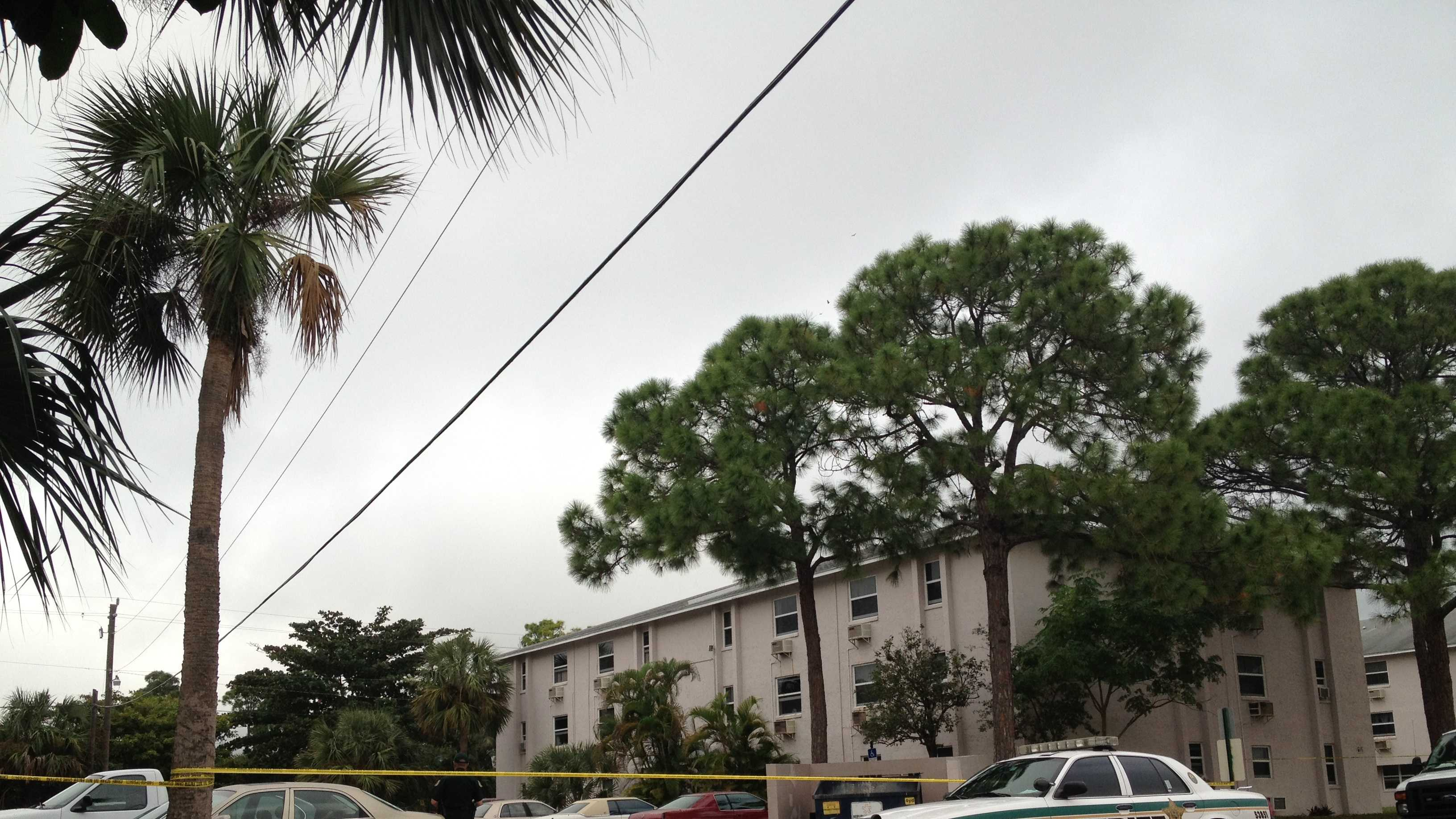 Two bodies were found inside a car at this apartment complex off Mango Drive.