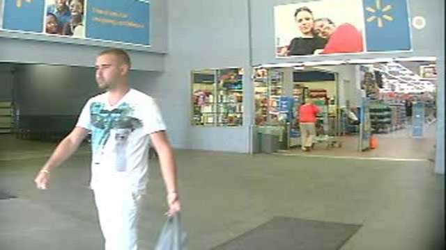 Police say this man used fraudulent credit cards to purchase gift cards and other items from a Walmart in Port St. Lucie.
