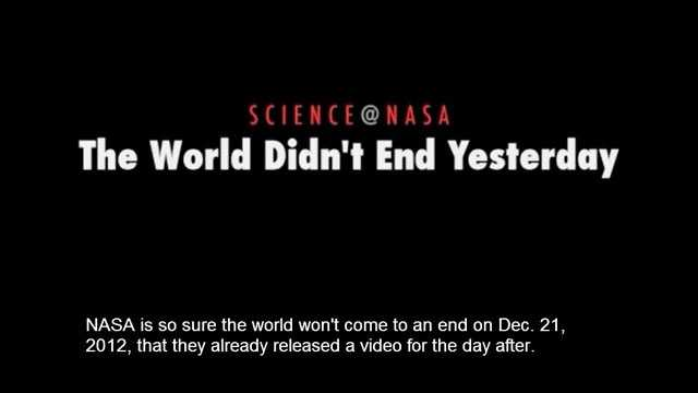 The World Didn't End Yesterday