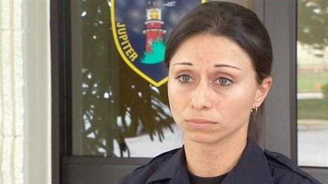 Jupiter police Officer Janine Jenne played a vital role in saving the life of a painter who was shocked by a power line.