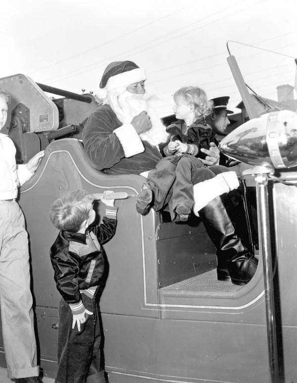 1950: Santa visits with children in St. Augustine, Florida.