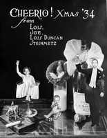 1934: The Steinmetz family of Sarasota 1934 Christmas card.