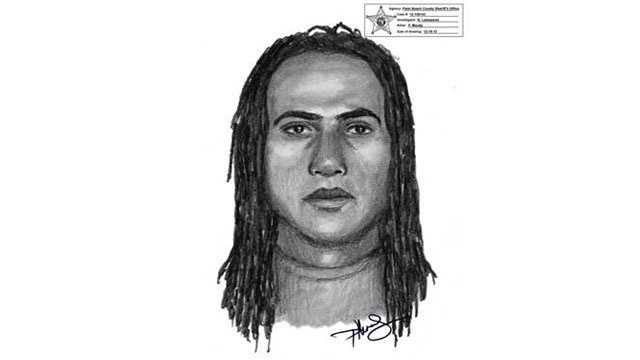 Sheriff's detectives released this sketch of a man who robbed a delivery truck driver in West Palm Beach.
