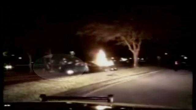 Dash cam video shows Jupiter car fire rescue