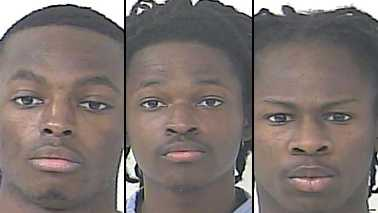 Alexander Green, Amari Green and Henry Idom III are accused of stealing a woman's 32-inch TV set that she had hoped to sell to them on Craigslist.