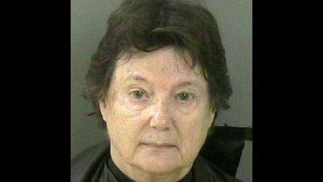 Joan Mead is acccused of stabbing her husband with a butcher's knife in their Vero Beach home on Monday.
