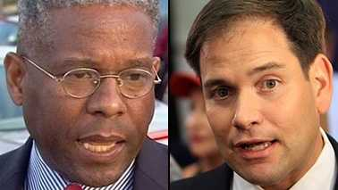 "Allen West (left) and Marco Rubio voted ""No"" on the fiscal-cliff deal."