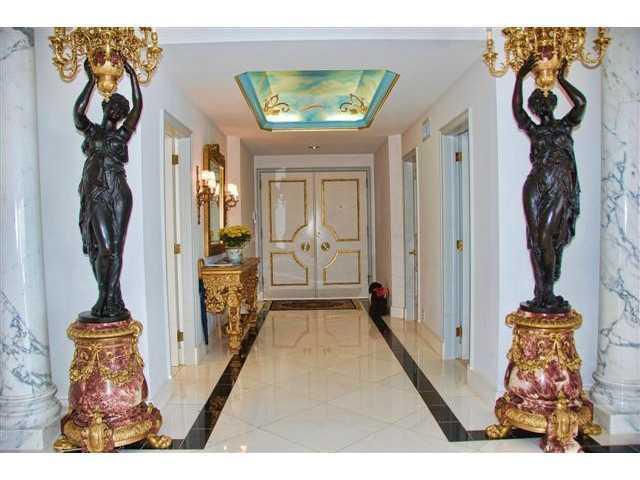 Extravagant entrance-way.