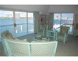 Indoor deck, sitting area.