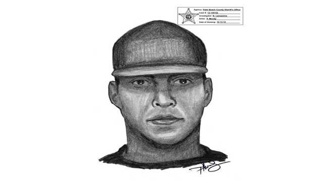 Palm Beach County Sheriff's Office detectives release this sketch of a man who committed an armed robbery on Wynnewood Drive in December.