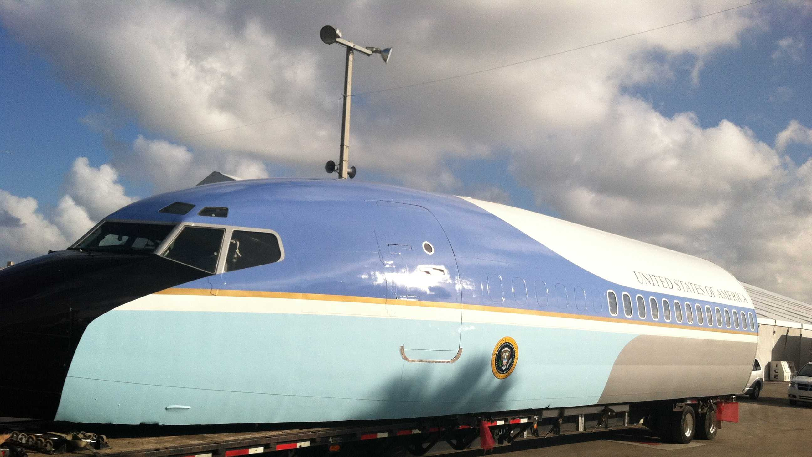 This Air Force One replica will be on display at the South Florida Fair.