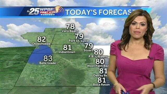 Felicia says mild and dry conditions are on tap for the Palm Beaches and Treasure Coast.