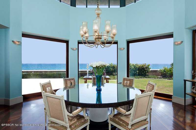 Simplicity at it's finest is on full display in this elegant dining room.