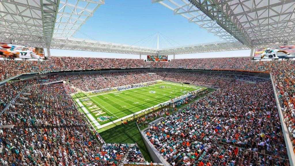 This is a rendering of the Sun Life Stadium upgrades being proposed by Miami Dolphins owner Stephen Ross.