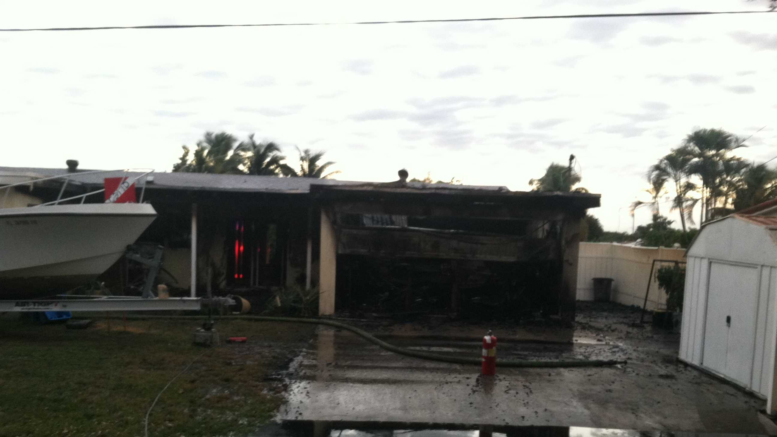 Gardens fire house damage